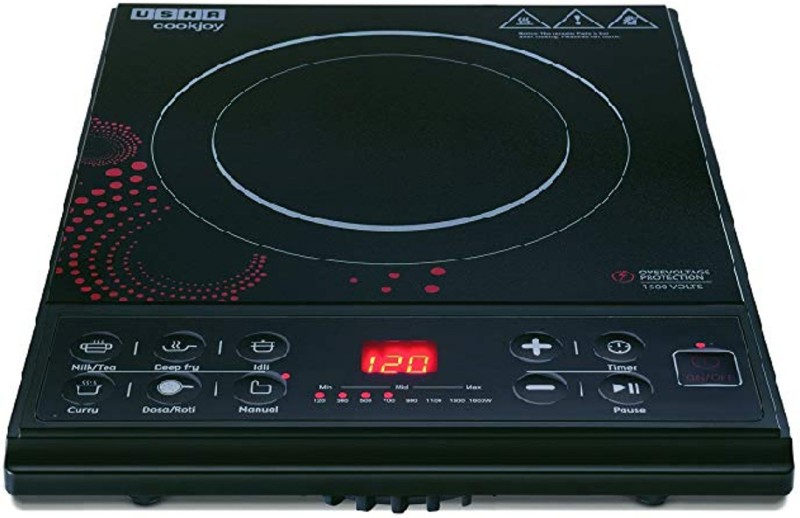Usha Cook Joy (3616) 1600-Watt Induction Cooktop (Black) Induction Cooktop(Black, Touch Panel)