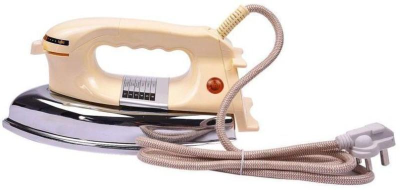 Hazzlewood 1000W Heavy sole plate Dry Iron(Cream)