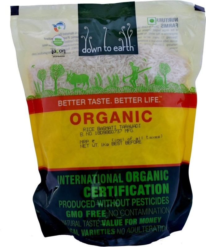 Down to Earth Tarawadi Basmati Rice (Long Grain, Raw)(1 kg)