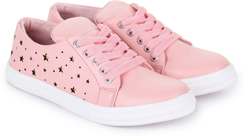 D-SNEAKERZ Synthetic Leather Casual Sneaker shoes for Women/girls Sneakers For Women(Pink)