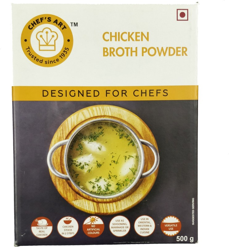 chef's art Chicken Broth Powder - 500gm 500 ml Chicken Fresh(Pack of 1)