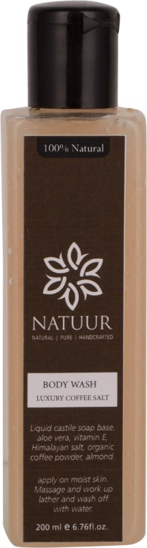 NATUUR Body Wash Coffee & Salt - Anti Cellulite, Anti Bacterial - Aura Cleansing Body Wash(200 ml)