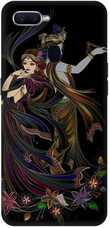 TPM Back Cover for OPPO F9 Pro(Lord,Krishna,Radha,Rani,India,Love,Spritual,Hare,Krishna, Waterproof)