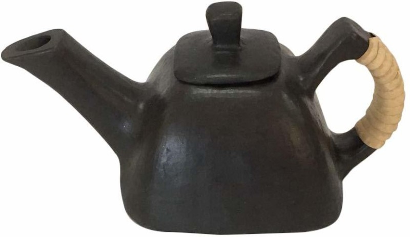 Maikart Longpi Black Stone Square Shaped Tea Pot Kettle Jug(1 L)