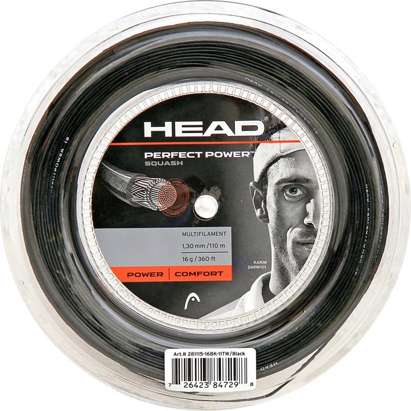 Head Squash Reel Perfect Power 16L 1.3 Squash String - 16 m(Black)