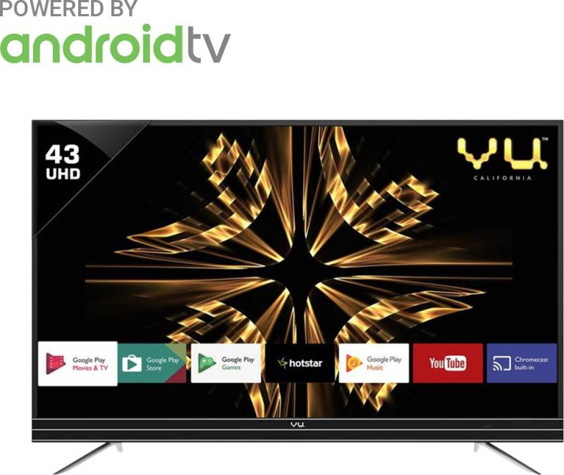 Vu 109cm (43 inch) Ultra HD (4K) LED Smart Android...