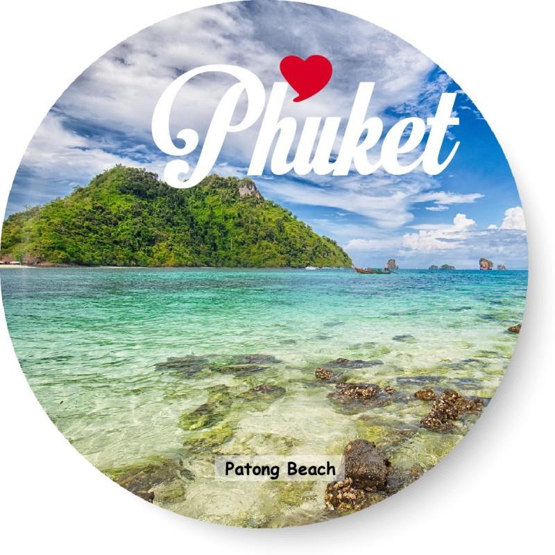 PEACOCKRIDE Love Phuket I Patong Beach I Thailand Diaries I Travel Memories I Fridge Magnet Pack of 1(Multicolor)