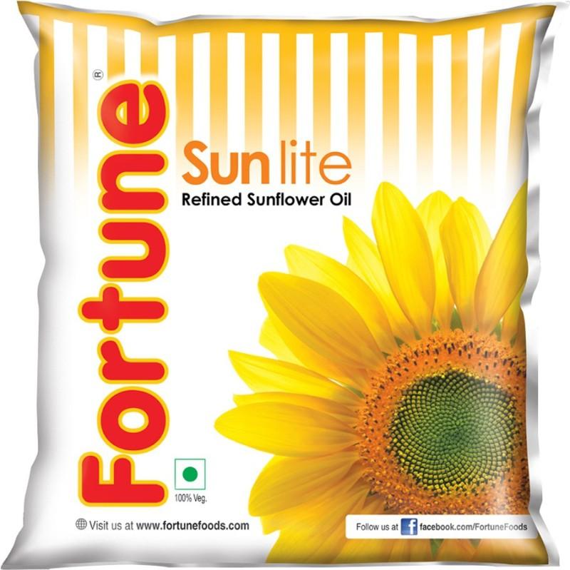 Fortune Sunlite Refined Sunflower Oil Pouch(500 ml)