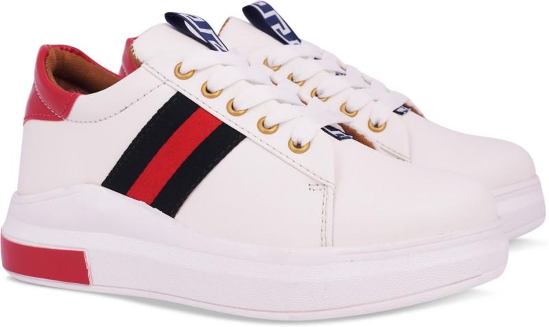 Krafter women sneakers Sneakers For Women(White)