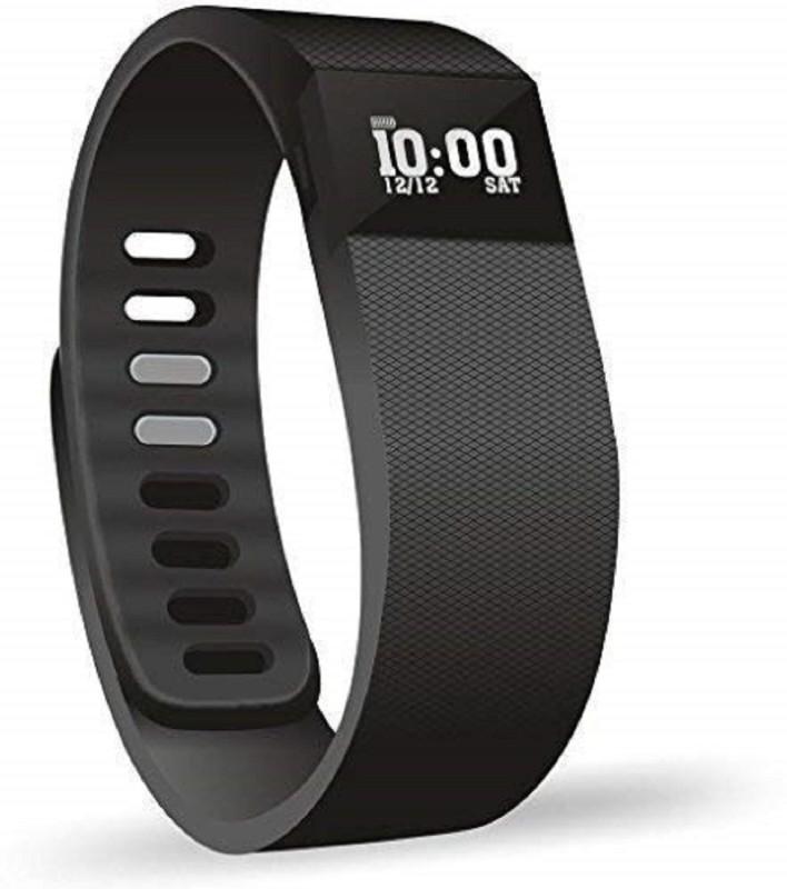 TRENTECH Fitness Activity Tracker Bluetooth Band(Black Strap, Size : XL)