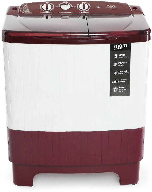 MarQ by Flipkart 6.2 kg Semi Automatic Top Load Washing Machine Maroon, White(MQSADW62)