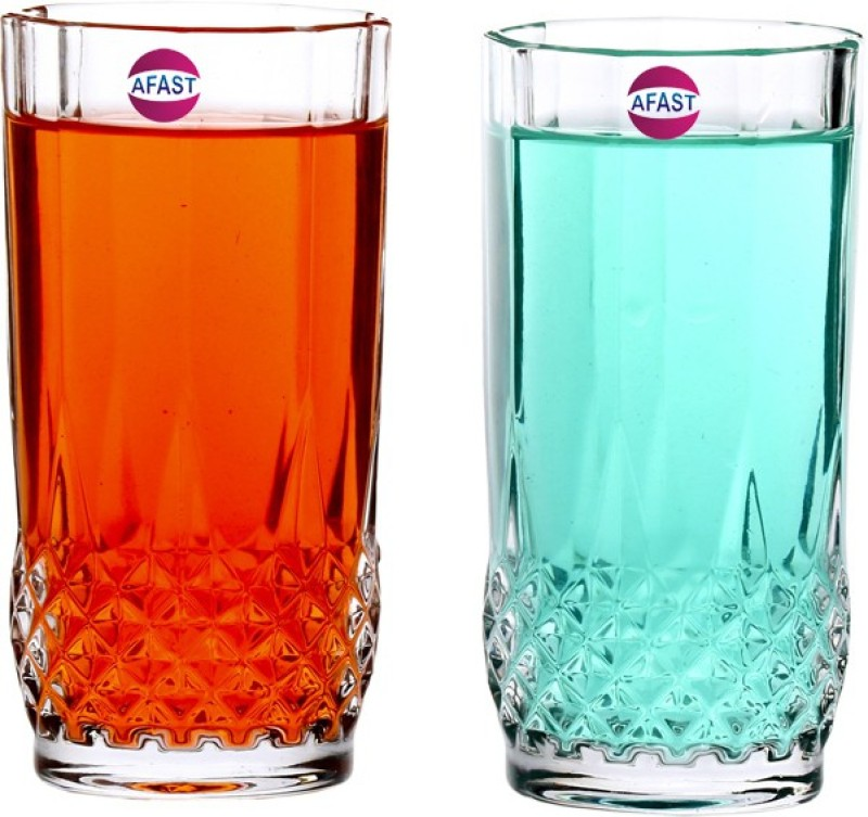 Afast Multi-Purpose Beaver Tumbler Drinking Glass Set for Home Use (Set Of 2) -AA53 Glass Set(Glass, 250 ml, Clear, Pack of 2)
