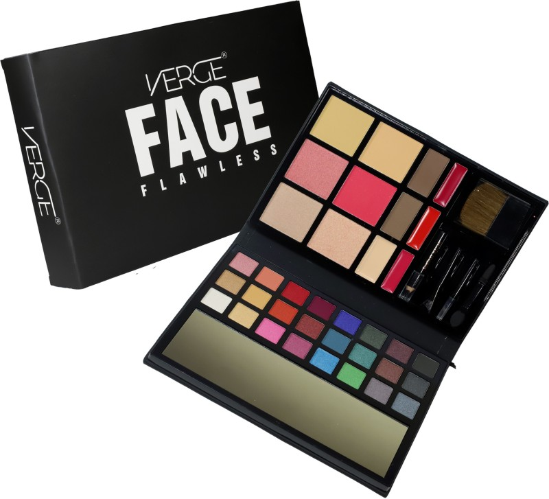 VERGE FACE FLAWLESS 24 eye shadow + 2 compact powder + 3 blusher + 2 highlighter + 2 eyebrow powder + 3 lip cream