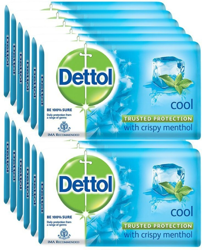 Dettol Bathing Bar Soap, Cool(1500 g, Pack of 12)