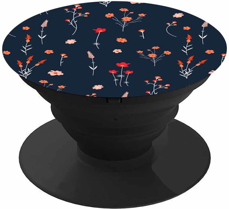 Casotec 99B-40261 Red & Orange Small Flowers Patterns Mobile Holder