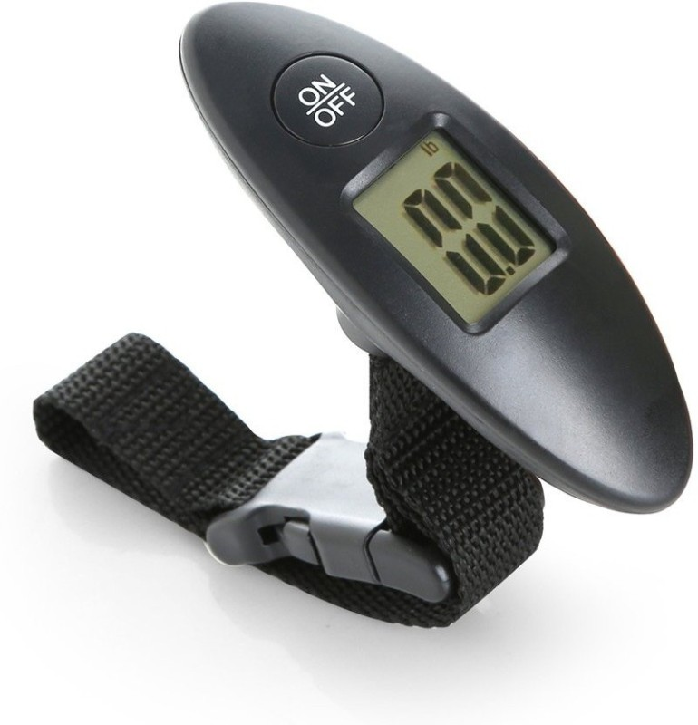 LALA LIFE High Quality 40 KG Digital Portable Electronic Luggage Weight Hanging Scale LCD Display Weighing Scale(Black)