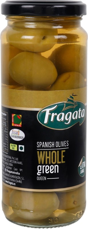 Fragata Spanish Plain Green QUEEN OLIVES Olives & Peppers(340 g)