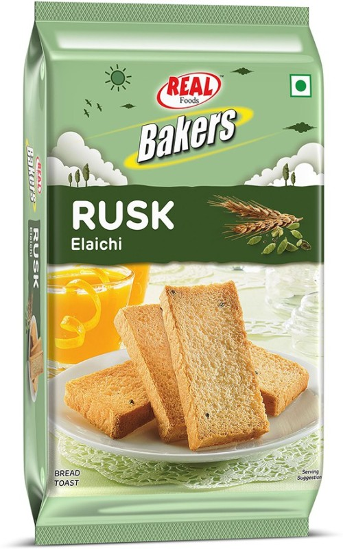 Real Bakers Elaichi Rusk Elaichi flavored Elaichi Rusk(300 g)