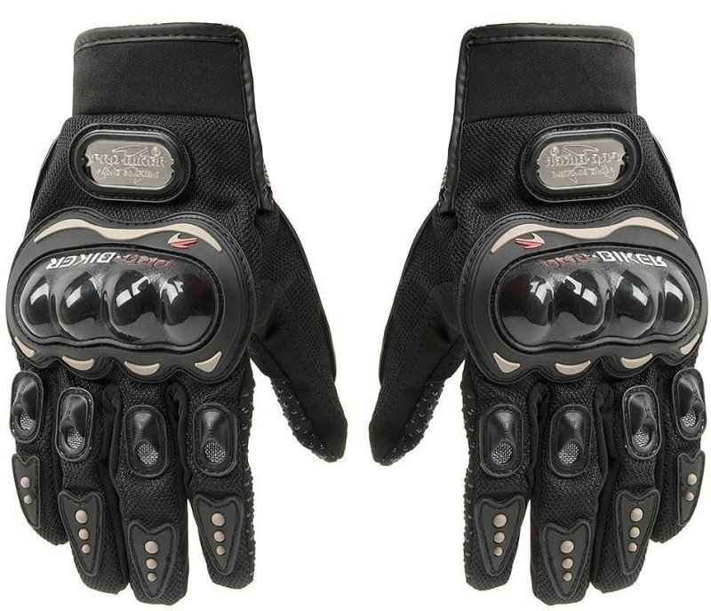 Probiker Gloves Shockproof Foam Padded Outdoor Riding Full Finger Glove For Men Riding Gloves(Black)