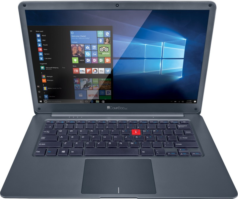 iBall CompBook Celeron Dual Core - (4 GB/64 GB EMMC Storage/Windows 10 Home) Netizen 14 Thin and Light Laptop(14 inch, Metallic Grey, 1.32 kg)