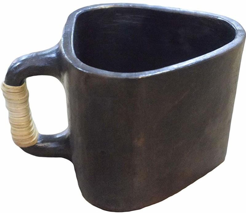 Maikart Longpi Black Stone Pottery Small Tea Mug Pottery(Black, Pack of 1)