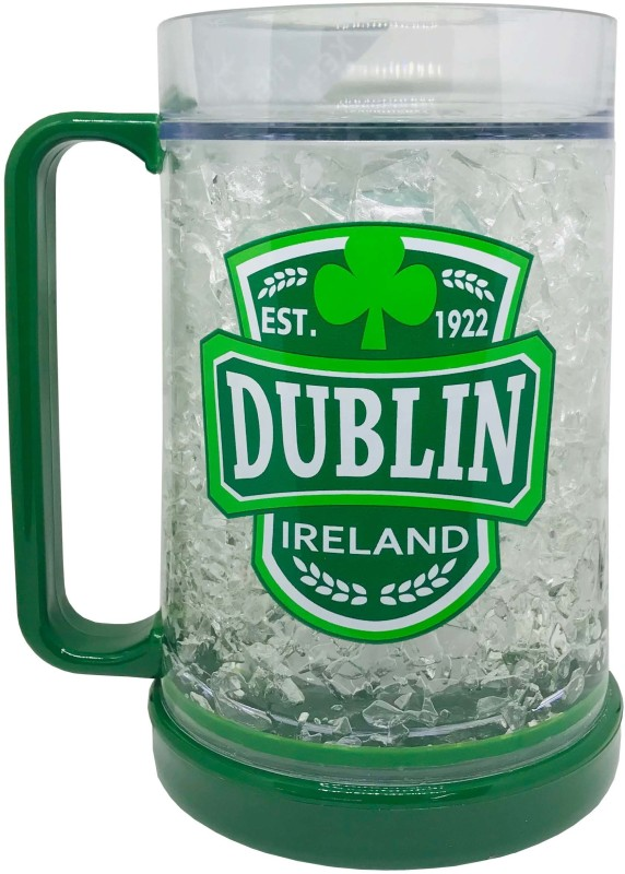shoppers stoppers Dublin Beer With Freezing Gel Plastic Mug(400 ml)