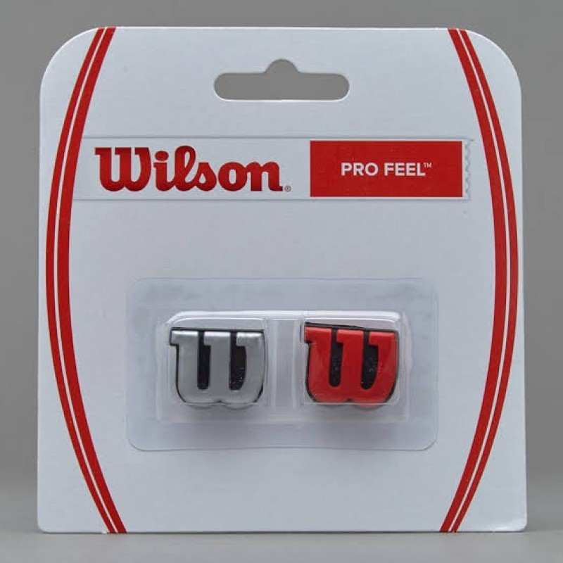 Wilson Profeel Tennis Dampener(Silver, Red, Pack of 2)