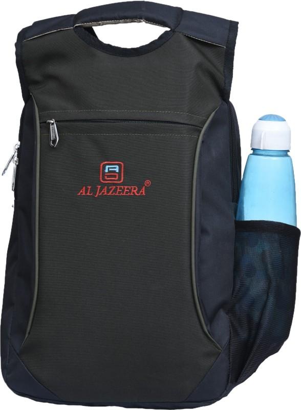Al Jazeera Unisex Printed Laptop Backpack 20 L Laptop Backpack(Black, Green)