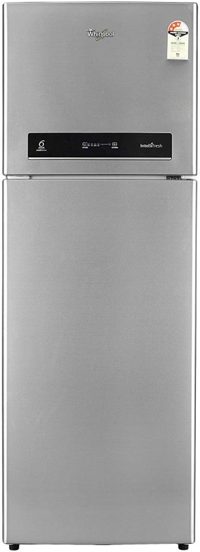 Whirlpool 360 L Frost Free Double Door 3 Star Refrigerator(Magnum Steel, INTELLIFRESH INV 375 ELT 3S)