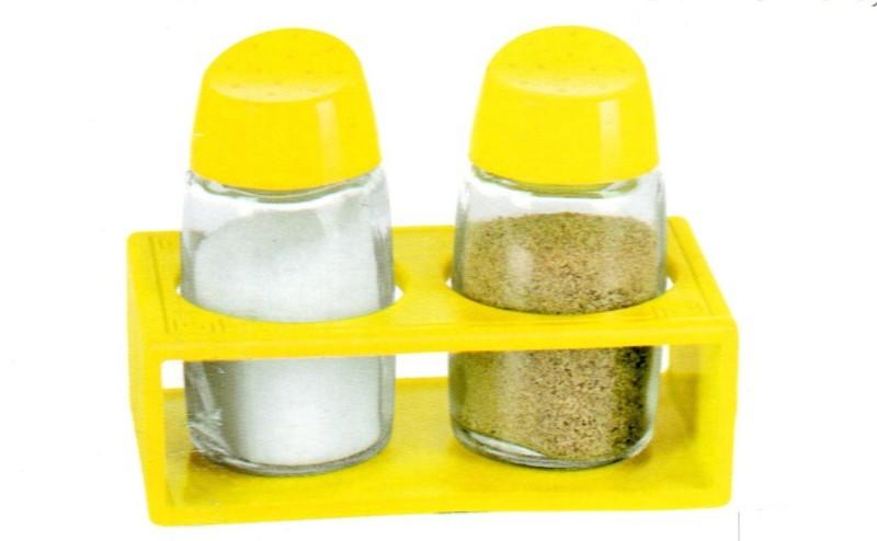 SMART SKILL HOME UTILITY YELLOW SALT PEPPER SHAKER WITH RACK Sugar Sprinkler Shaker 150 gm