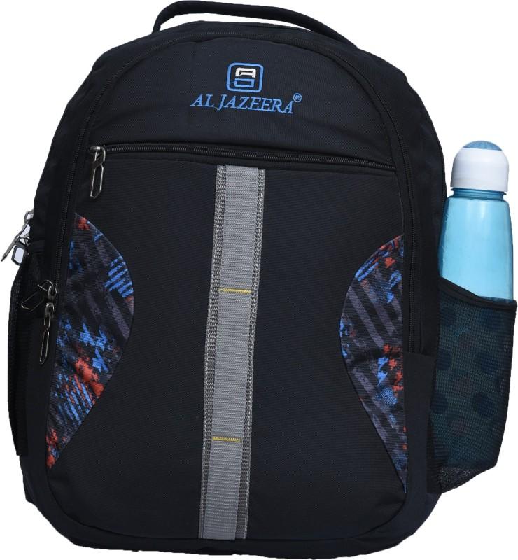 Al Jazeera Unisex Printed Backpack 20 L Backpack(Black, Grey)
