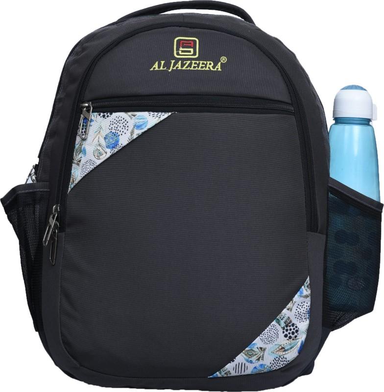 Al Jazeera Unisex Printed Backpack 20 L Backpack(Black, White)