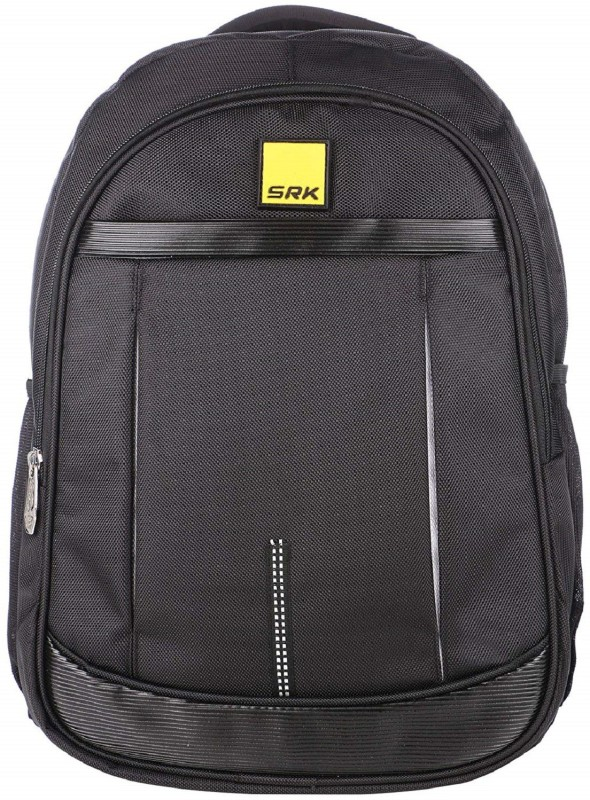 SRK Casual Unisex Laptop Bag School/Collage/Office/Daily Utility/Travelling BAGPACK (Black 4) Backpack(Black, 16 inch)