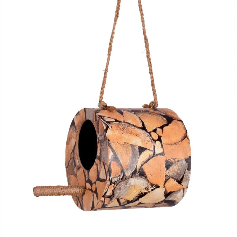 kalrav house Bird house/Bird nest/Sparrow home/Size : 6 inch x 6 inch x 6 inch Bird House(Hanging, Wall Mounting, Tree Mounting)