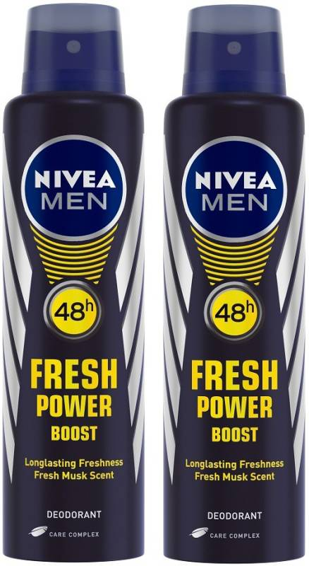 Nivea Men Fresh Power Boost Deodorant Deodorant Spray - For...