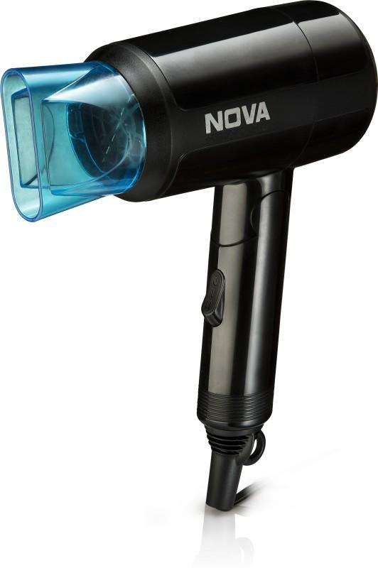 Nova Silky Shine 1200 w Hot and cold Foldable NHP 8105 Hair Dryer(1200, Black)
