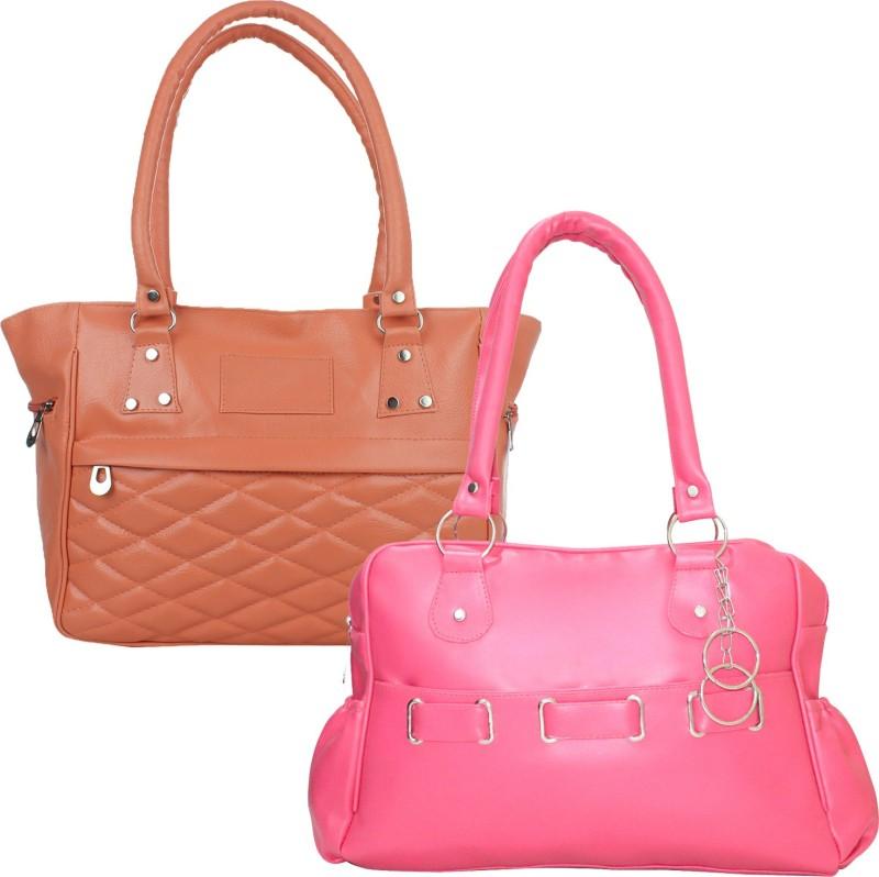 Fillincart Women Tan, Pink Hand-held Bag