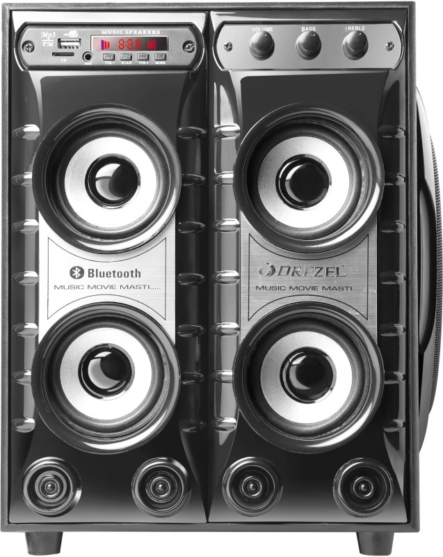 Drezel System 4.1 Tower Speaker(Bluetooth, USB, AUX, SD Card, FM/AM Radio)