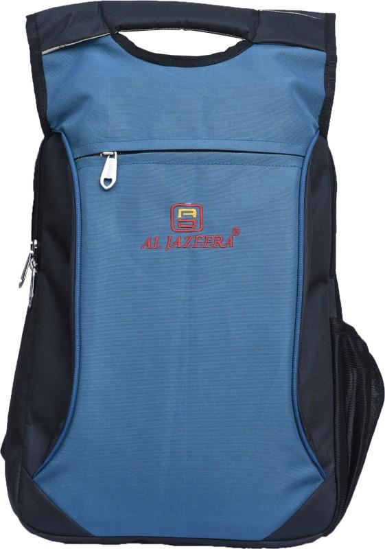 Al Jazeera Unisex Printed Laptop Backpack 20 L Laptop Backpack(Black, Blue)