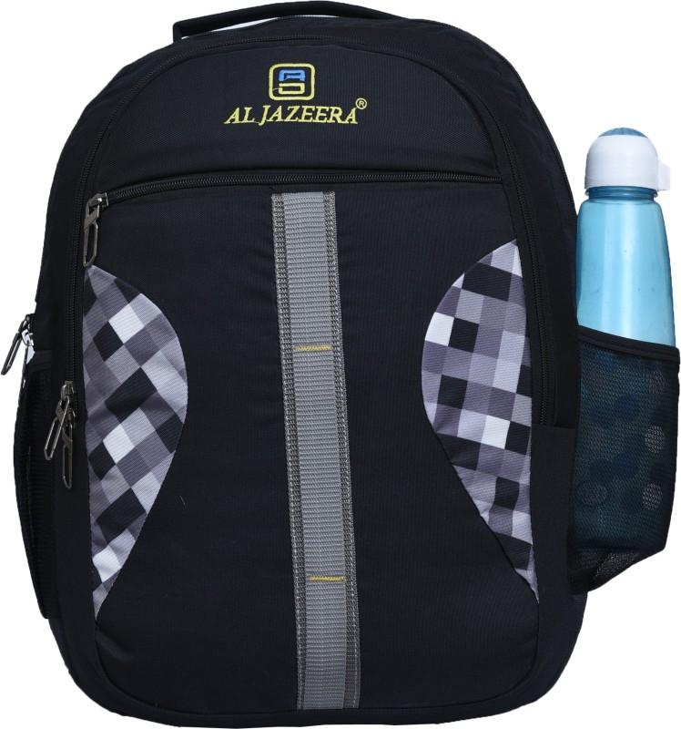 Al Jazeera Unisex Printed Laptop Backpack 20 L Laptop Backpack(Black, White, Grey)