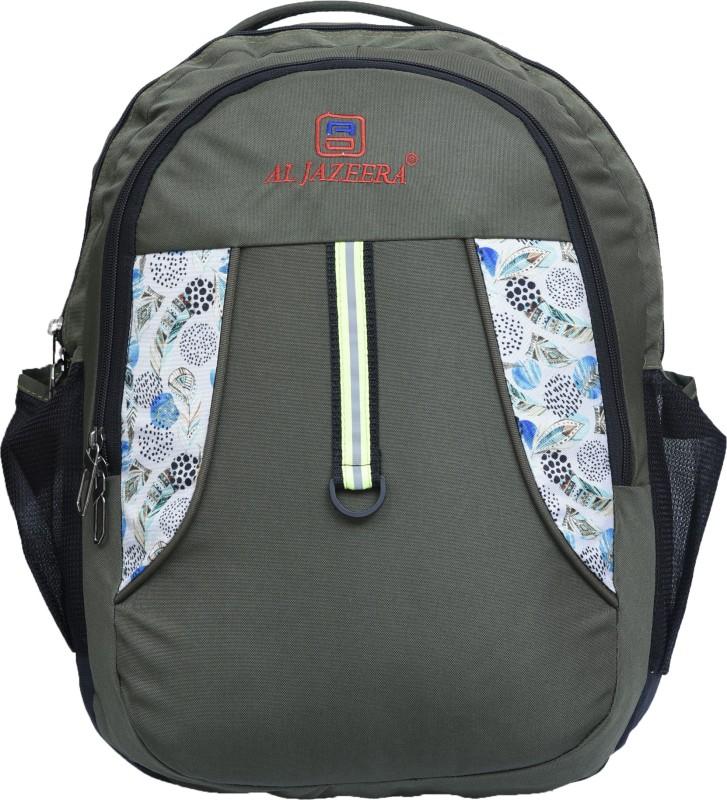 Al Jazeera 17 inch Inch Laptop Backpack(Green, Black)