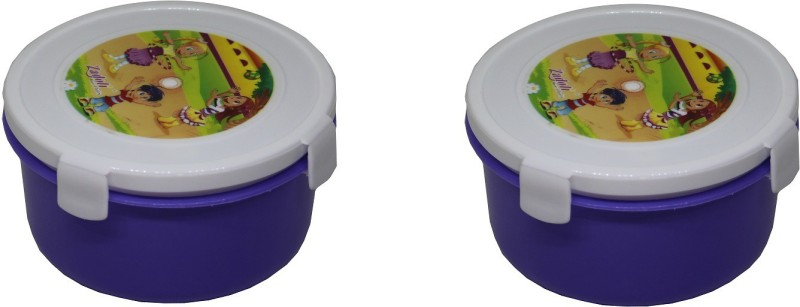 Maitri Air Tight Lunch Box with Spoon and Career for Kids/Air Tight Container for Kids/Birthday Party Gift/Return Gift/Office Lunch Box (Set of 2) 1 Containers Lunch Box(450 ml)