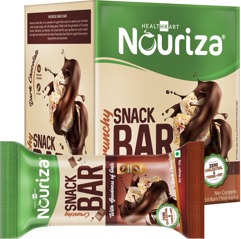 NOURIZA Snack Bar Protein Bars(10 No, Dark Chocolate)