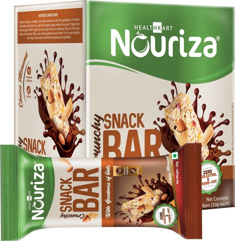 NOURIZA Snack Bar Protein Bars(10 No, Choco Almond)