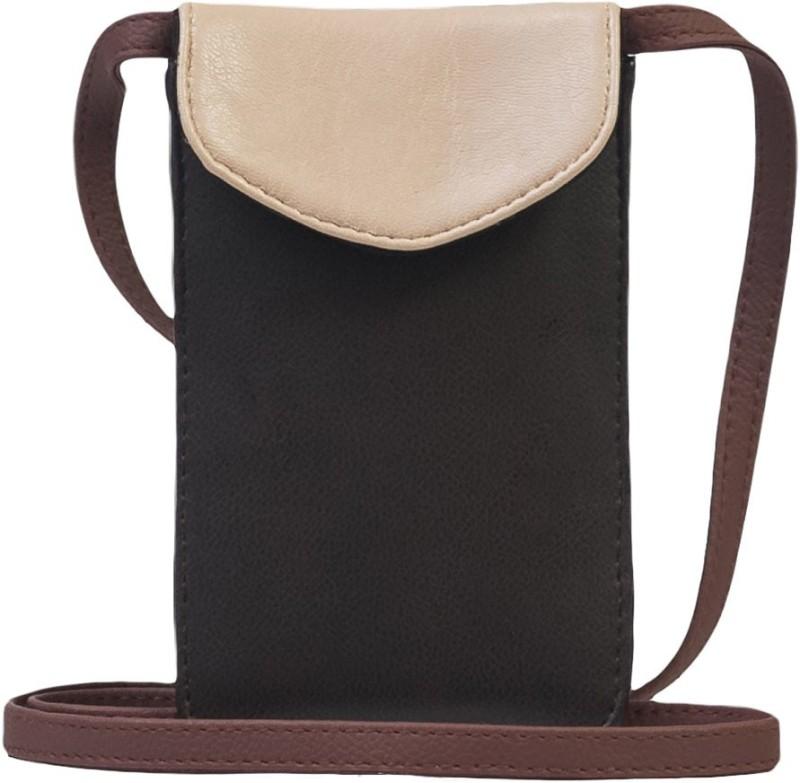 Band Box Beige, Black Sling Bag