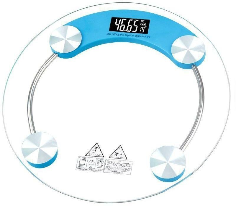 ShoppoWorld Electronic LCD Display Electronic Digital Personal Health Body Weight Scale Weighing Scale(Blue)