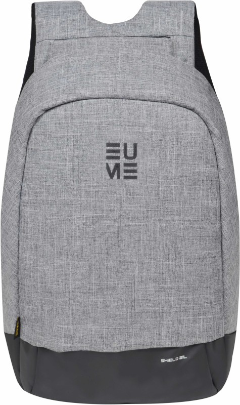 EUME Shield 21 Ltr Anti Theft Laptop bag for 15.6 inch Laptop and Nylon Water bag With USB Charging Port 21 L Backpack(Grey)