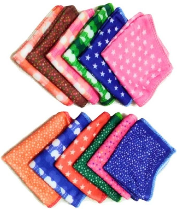 Cotton Colors Cotton 100 GSM Face Towel Set(Pack of 12, Multicolor)