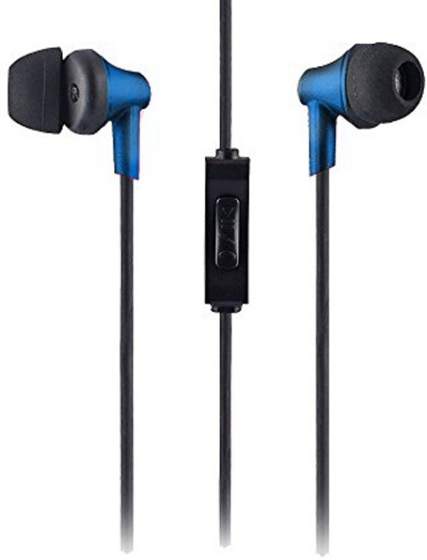 Sound One 616-Blue Wired Headset with Mic(Blue, In the Ear)