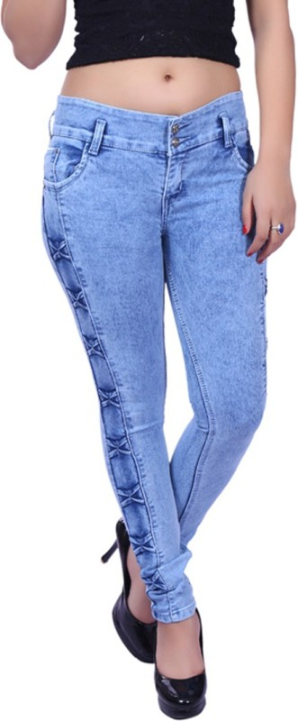 NEON-9 Slim Girls Light Blue Jeans